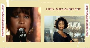 I WILL ALWAYS LOVE YOU - Whitney Houston