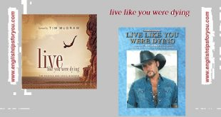 Tim McGraw-live like you were dying