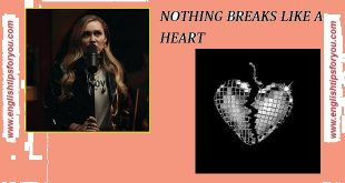 Miley Cyrus-nothing breaks like a heart