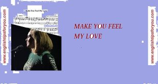 Adele - Make You Feel My Love-englishtipsforyou.com آموزش زبان انگلیسی