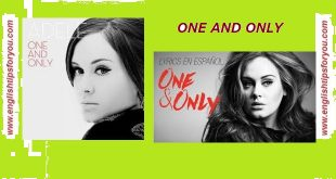 one and only-ADELE