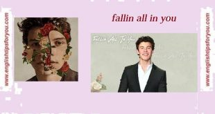 Shawn Mendes - Fallin All In You.englishtipsforyou.com