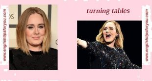 Adele - Turning Tables.englishtipsforyou.com