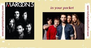 Maroon5 - In Your Pocket .englishtipsforyou.com