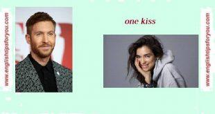 03. Calvin Harris & Dua Lipa - One Kiss.englishtipsforyou.com