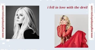 Avril Lavigne – I Fell In Love With the Devil_englishtipsforyou.com
