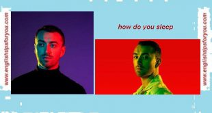 Sam-Smith-How-Do-You-Sleep-englishtipsforyou