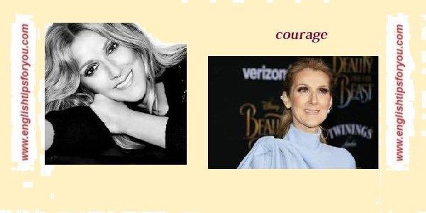 Celine-Dion-Courage-englishtipsforyou.com