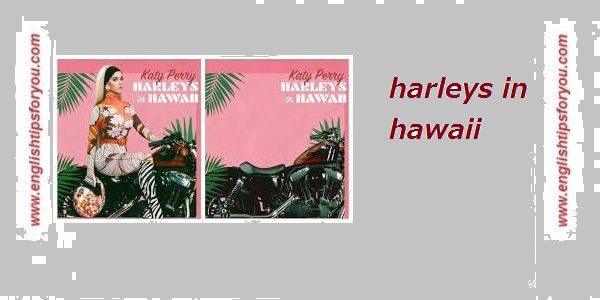 Katy Perry - Harleys In Hawaii .englishtipsforyou.com