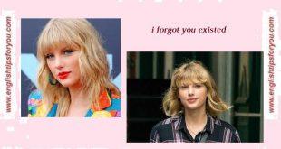 Taylors-Swift-I-forgot-that-you-existed.englishtipsforyou.com