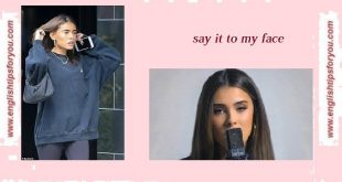 -Say It to My Face - MADISON BEER.englishtipsforyou.com