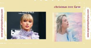 Taylor Swift - Christmas Tree Farm .englishtipsforyou.com