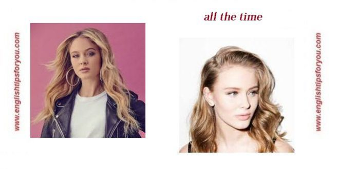 Zara Larsson - All the Time .englishtipsforyou.com