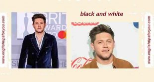 Niall Horan - Black And White.englishtipsforyou.com