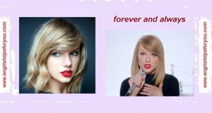 Taylor Swift - Forever Always.englishtipsforyou.com.